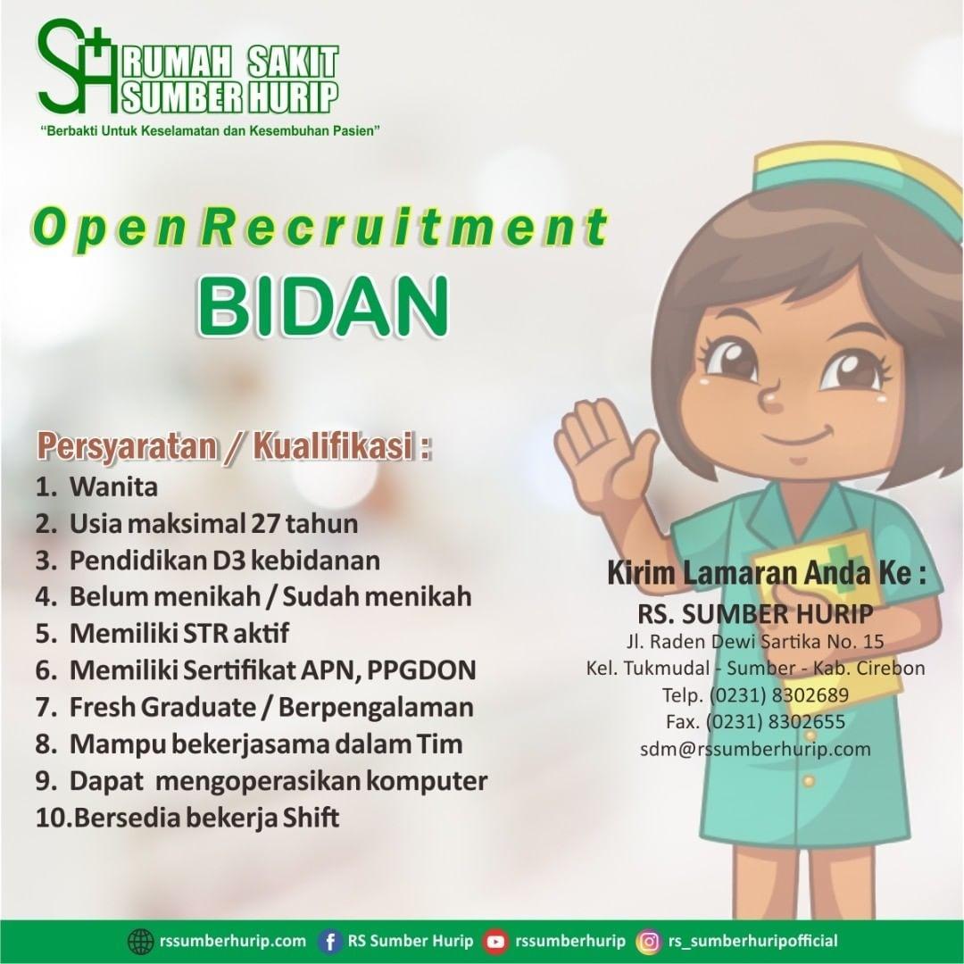 Open Recruitment Bidan Rumah Sakit Sumber Hurip
